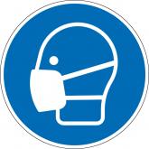 """Gebotsschild """"Maske benutzen"""""""