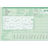 AUK-Gleitzeitabrechnungskarte für 2019