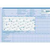 AUK-Gleitzeitabrechnungskarte für 2021
